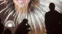 Crear un fotomontaje con fuegos artificiales