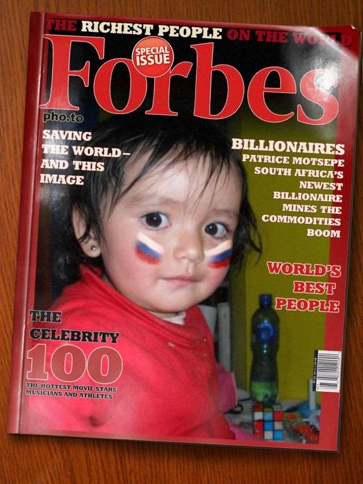 Fotomontaje gratis en revista forbes