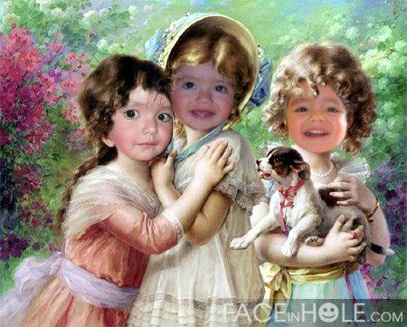 Fotomontaje online de tres niñas