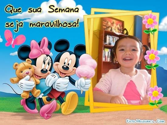 Marco para foto con Minne y Mickey