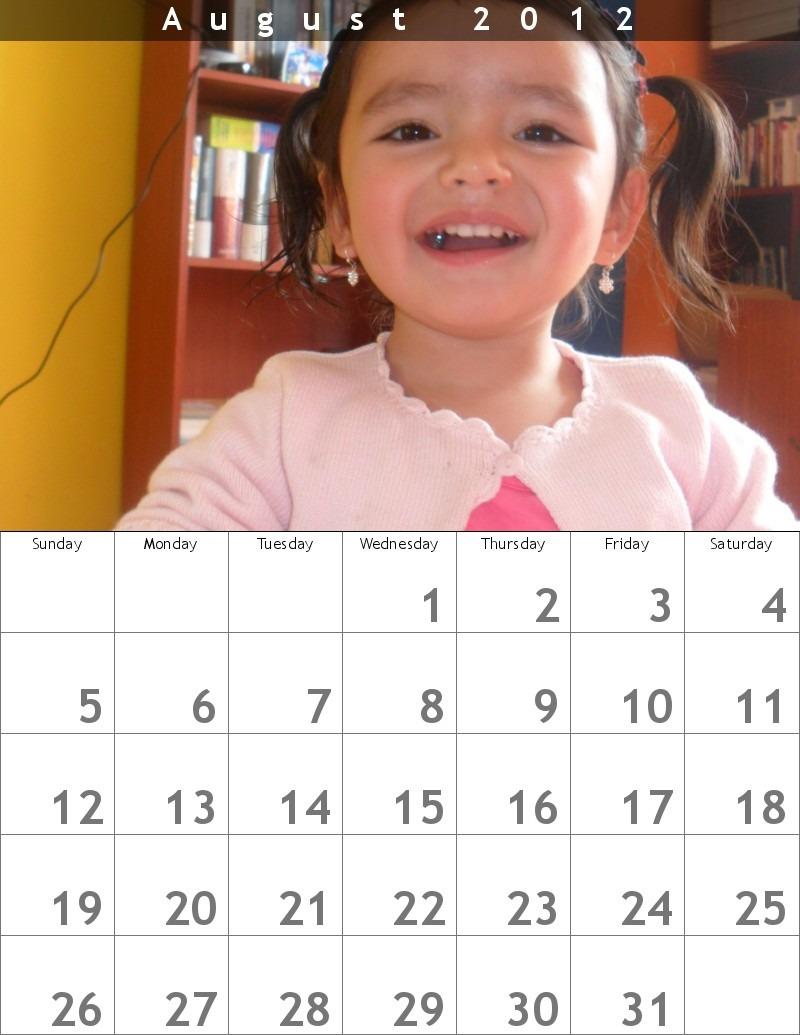 crear un calendario mensual utilizando tu propia foto