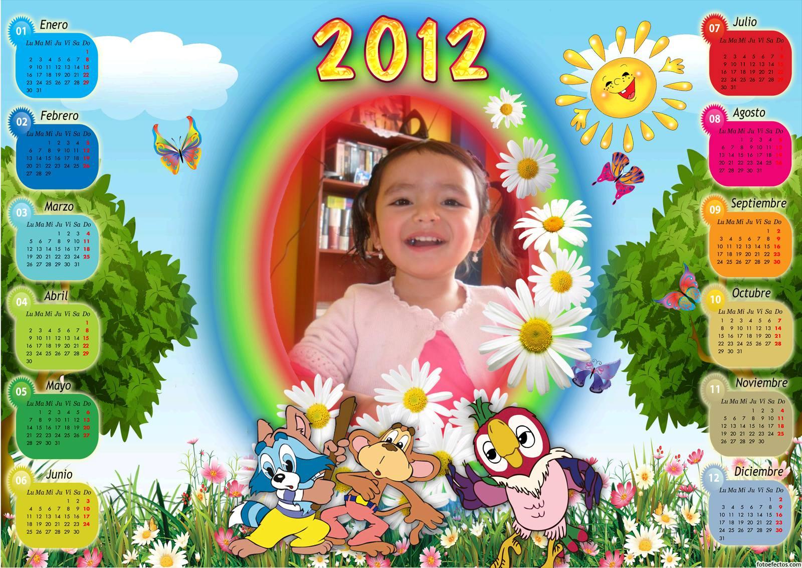 Calendario del 2012 personalizable