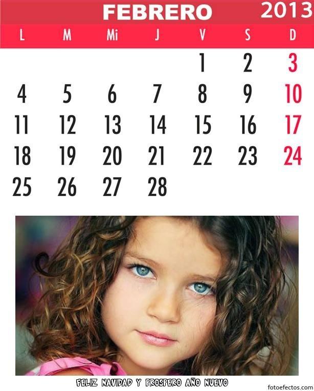 Calendario personalizado gratis del 2013