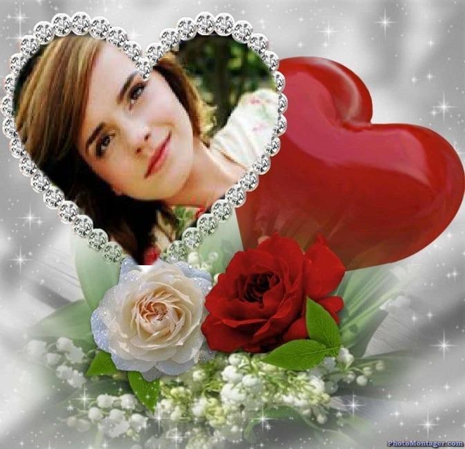 Detalles para el día de san valentin en photomontager.com