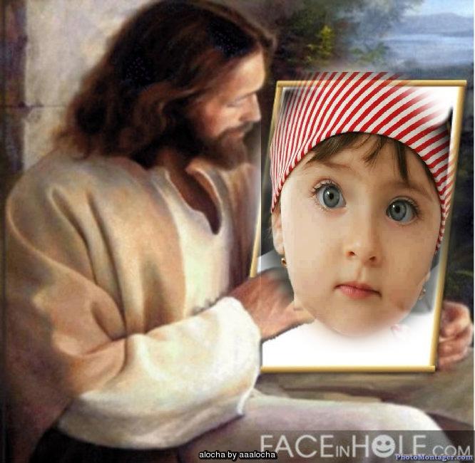 Fotomontaje con jesucristo en photomontager.com