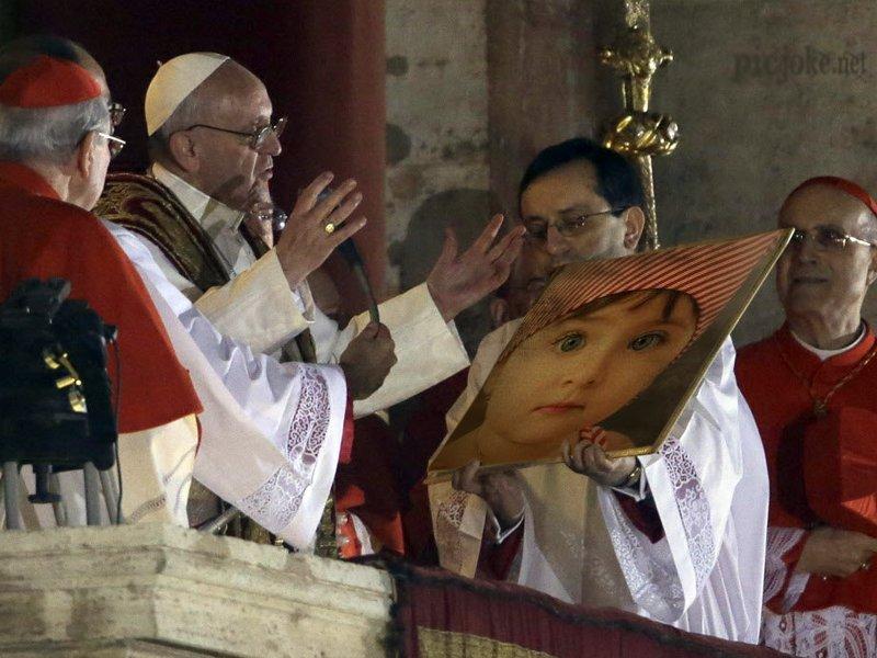Personaliza tu foto junto al papa Francisco I