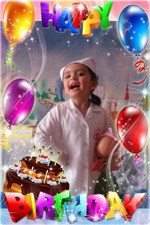 Marcos para fotos de cumpleaños infantiles gratis