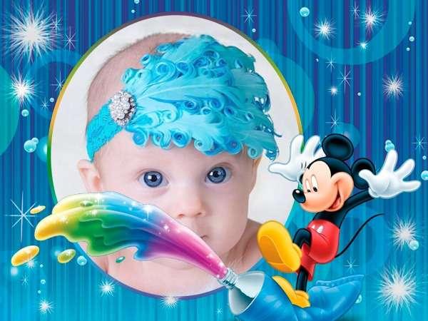 fotomontaje infantil gratis con michey mouse
