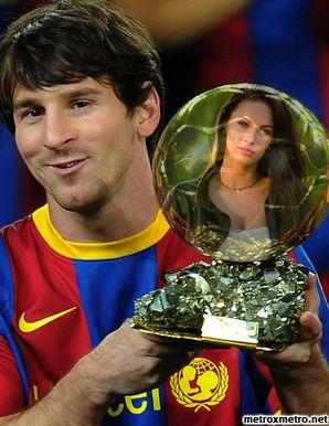 Fotomontaje con Leonel Messi