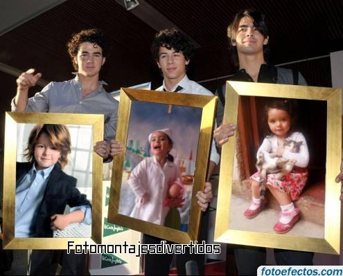 fotomontajes con famosos (Jonas brothers)