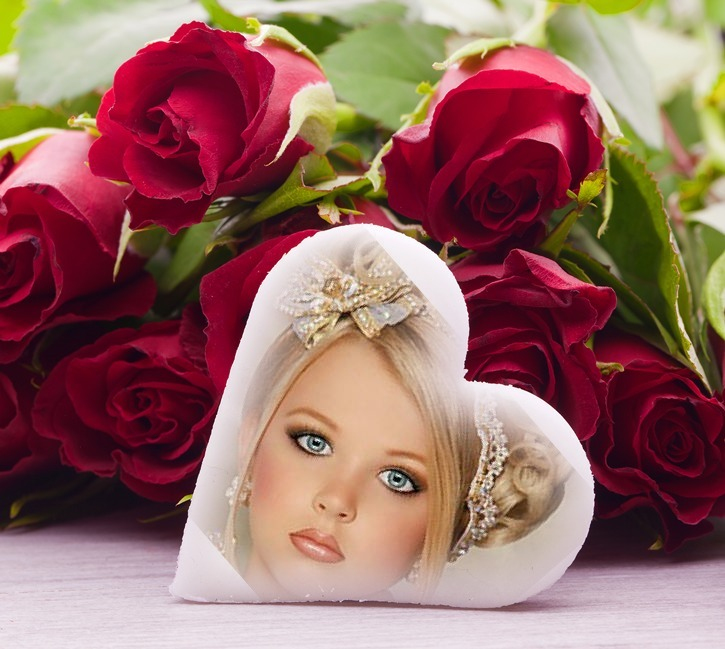 Crear fotomontaje de amor con flores