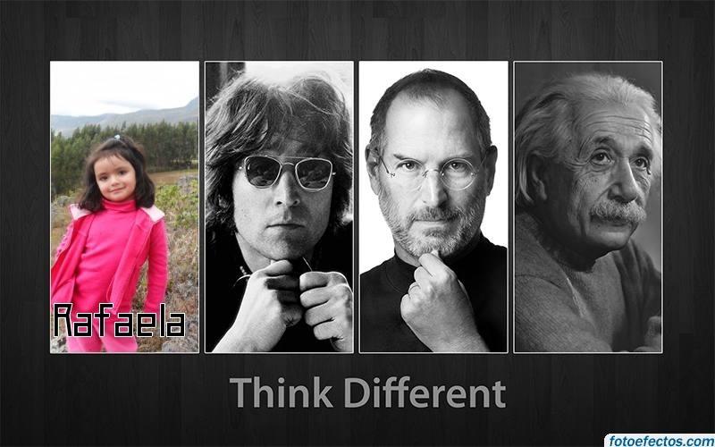 Fotomontajes con Jhon Lennon, Steve Jobs y Albert einstein.