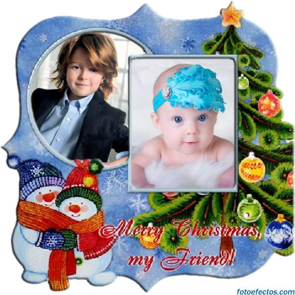 Postales de navidad para dos fotos