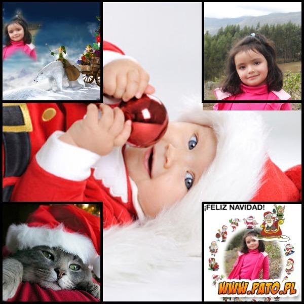 Collage de fotos para navidad