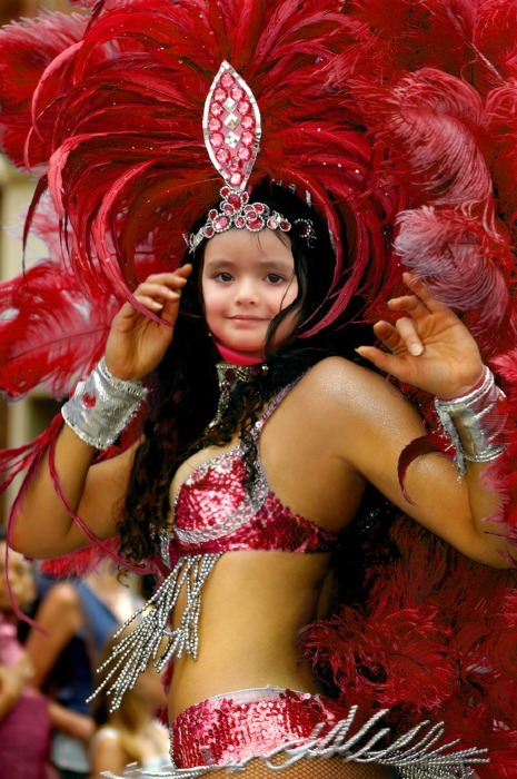 Bailarina de samba fotomontaje