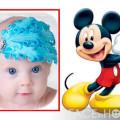 Lindo marco para fotos con mickey mouse