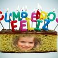 Fotomontaje gratis en torta de cumpleaños