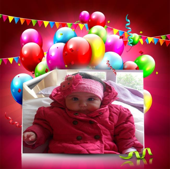 Marco para fotos de cumpleaños infantiles