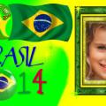 Fotomontaje con el logo de brasil 2014