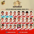 Fotomontaje en la lista de convocados españa mundial 2014