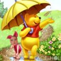 Fotomontaje infantil con el oso pooh