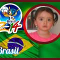 Marco de fotos dentro de la bandera de brasil