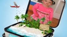 fotomontaje en una maleta gratis en photomontager