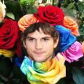 Bello fotomontaje un ramo de rosas
