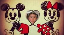Marco para fotos de amor con mickey y minnie mouse