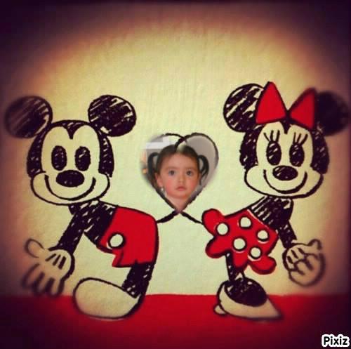 Marco para fotos de amor con mickey y minnie mouse | Fotomontajes ...