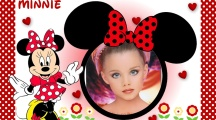 Bello marco de fotos con minnie mouse