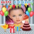 Fotomontajes de feliz cumpleaños con globos