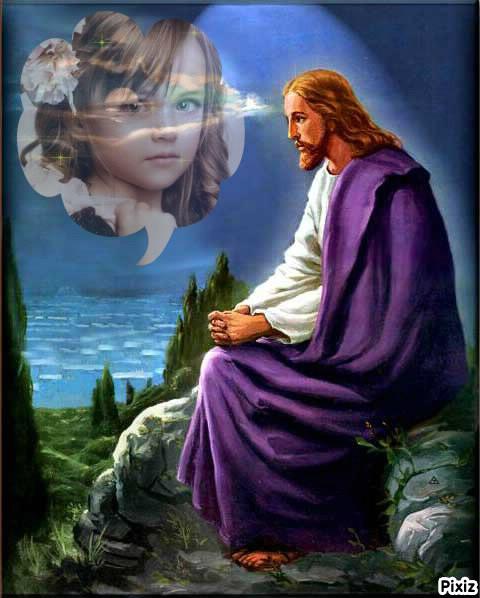 Fotomontaje religioso con Jesús