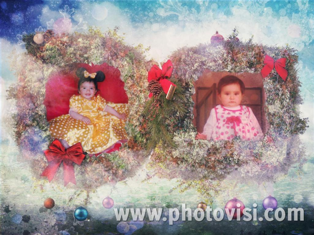 Collage navideño para fotos gratis