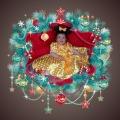Marco para foto en un bello adorno navideño