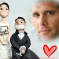 Fotomontaje de amor divertido donde dice él acepta