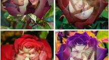 Fotomontaje de amor en rosas