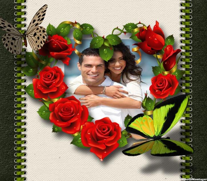 hermoso fotomontaje de amor gratis