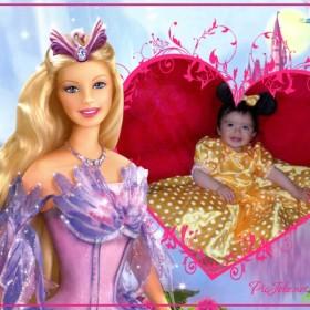 Fotomontaje infantil gratis online con barbie