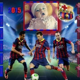 Fotomontaje dirigido para todos los fanaticos del FC Barcelona