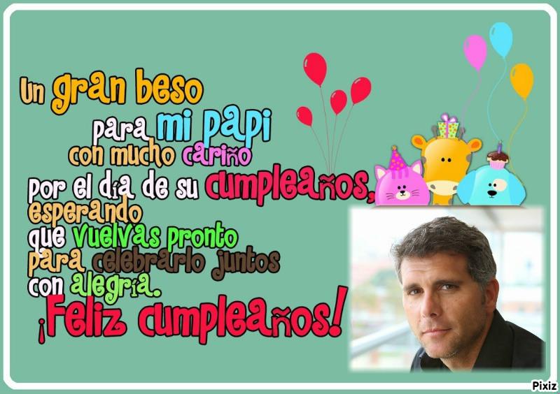 dedicatoria de cumpleaños gratis para papá | Fotomontajes Divertidos