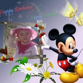 mickey mouse en tu marco para fotos