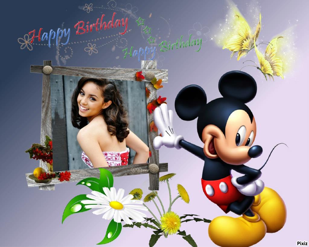 Mickey mouse en tus marcos | Fotomontajes Divertidos