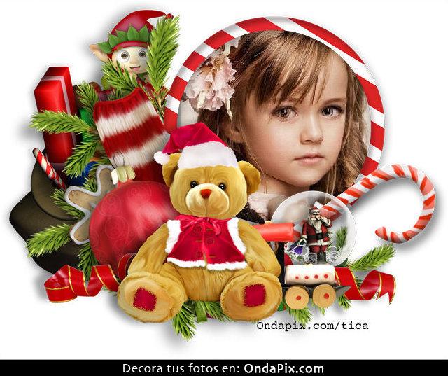 Increíbles Marcos Infantiles De Navidad Fotomontajes