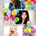 fotomontaje para cumpleaños con tres fotos