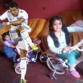 Fotomontaje con Cristiano Ronaldo