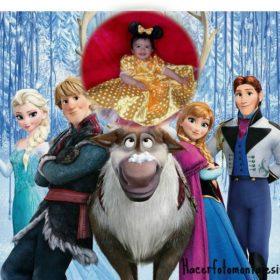 El fotomontaje más bello con personajes de la película frozen