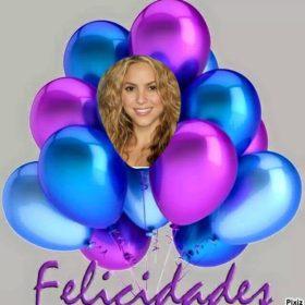 Desea feliz cumpleaños con este fotomontaje de globos