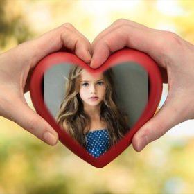 fotomontaje en un corazón