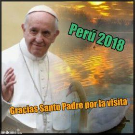 Fotomontaje con el Santo Padre